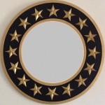 Nautical Star Mirror shown in Black and Gold