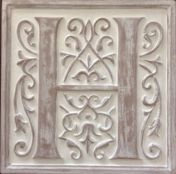 Ivory distressed letter H indoor -179.98 last image (1)