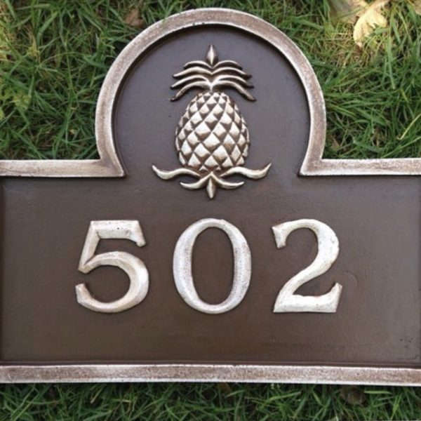 pineapple-address-plaque