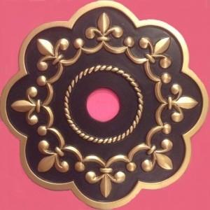 Fleur de lis ceiling medallion