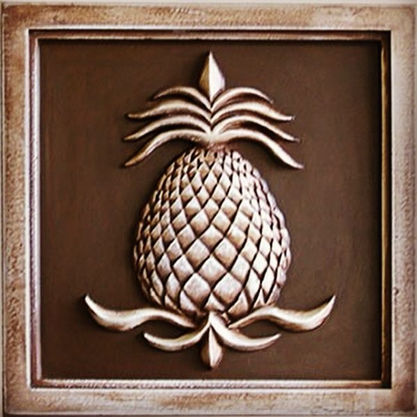 Vintage Brown pineapple plaque 12 in -89.98 10th image (1)