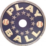 baseball ceiling medallion navy