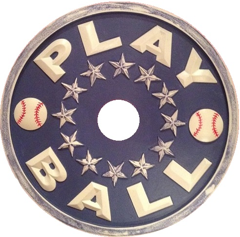 baseball ceiling medallion navy