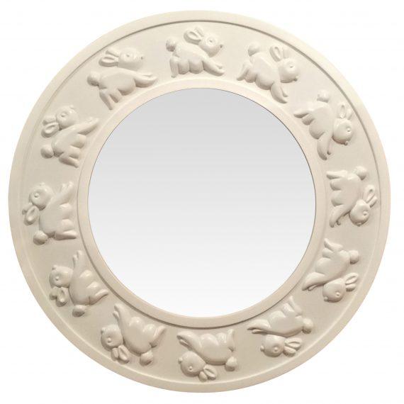 bunny mirror white
