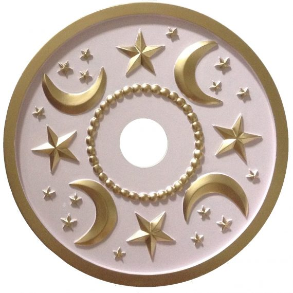 moon & stars ceiling medallion -144.98 6th image