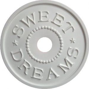 DIY Sweet Dreams Ceiling Medallion