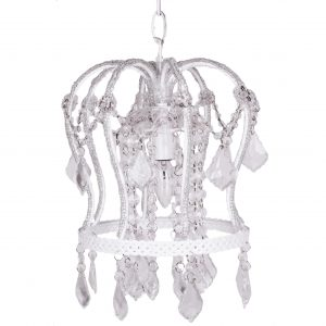 Nursery Crown Chandelier White