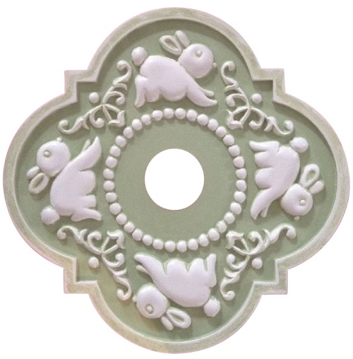 Marie Ricci Bunny Ceiling Medallion