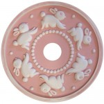 Pink Distressed Bunny Medallion