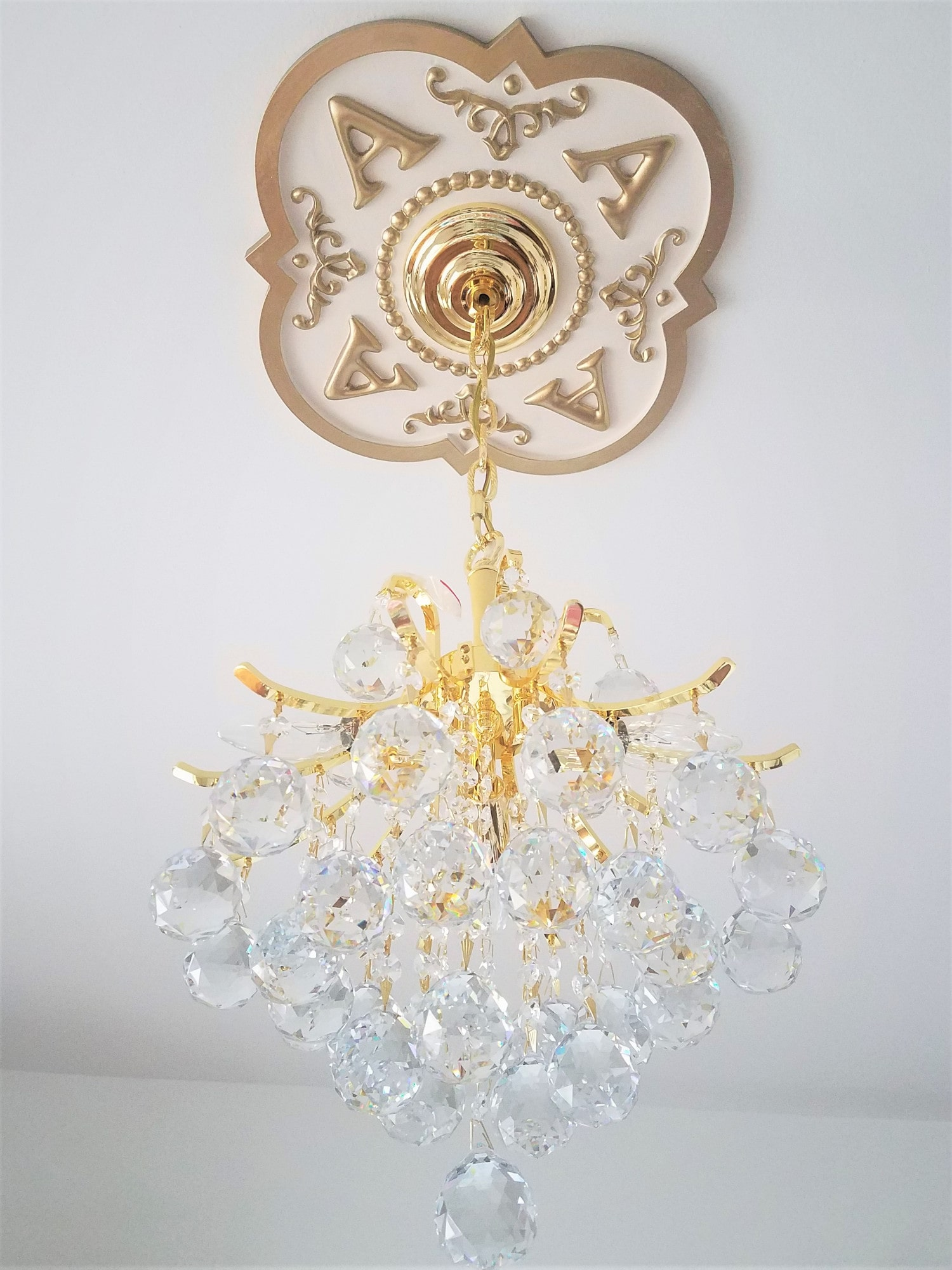 pin metallic hand faux decorative by painted medallion ceilings brass sophisticatedglitz ceiling