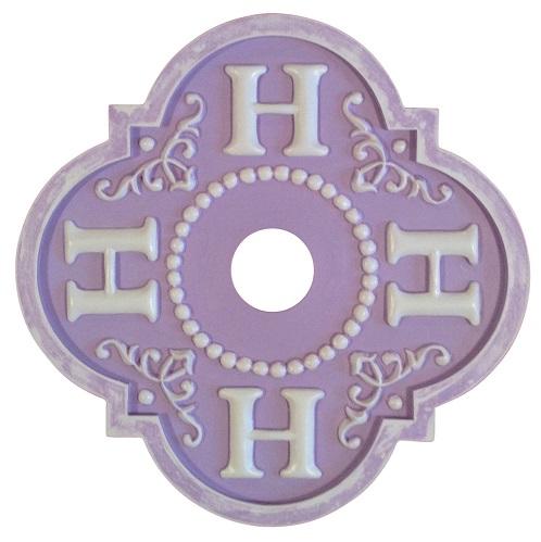 lilac monogram H